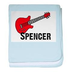 Guitar - Spencer baby blanket