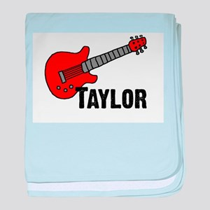 Guitar - Taylor baby blanket