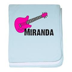 Guitar - Miranda - Pink baby blanket
