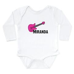 Guitar - Miranda - Pink Long Sleeve Infant Bodysui