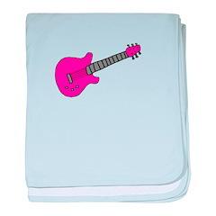 PINK GUITAR - Blank baby blanket