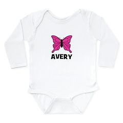 Butterfly - Avery Long Sleeve Infant Bodysuit
