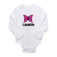 Butterfly - Lauren Long Sleeve Infant Bodysuit