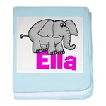 Ella - Elephant baby blanket