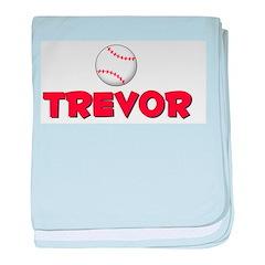 Trevor Baseball baby blanket