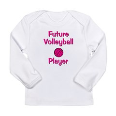 Future Volleyball Player Long Sleeve Infant T-Shir