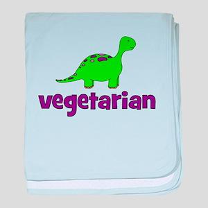 Vegetarian - Dinosaur baby blanket