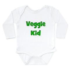 Veggie Kid - Green Long Sleeve Infant Bodysuit