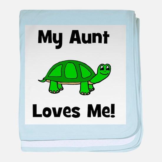 My Aunt Loves Me! Turtle baby blanket