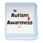 Autism Awareness (black) baby blanket