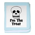 I'm The Treat (skull) baby blanket