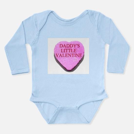 Candy Heart - Daddy's Little Long Sleeve Infant Bo