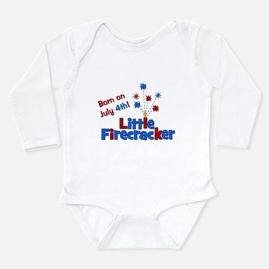 Born on July 4th Little Firec Long Sleeve Infant B