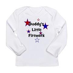 Daddy's Little Firework Long Sleeve Infant T-Shirt