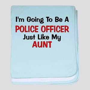 Police Officer Aunt Professio baby blanket