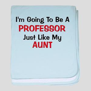 Professor Aunt Profession baby blanket