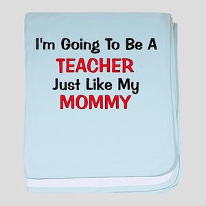 Teacher Mommy Profession baby blanket