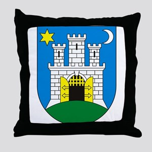Zagreb Coat of Arms Throw Pillow