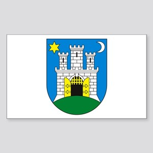 Zagreb Coat of Arms Rectangle Sticker