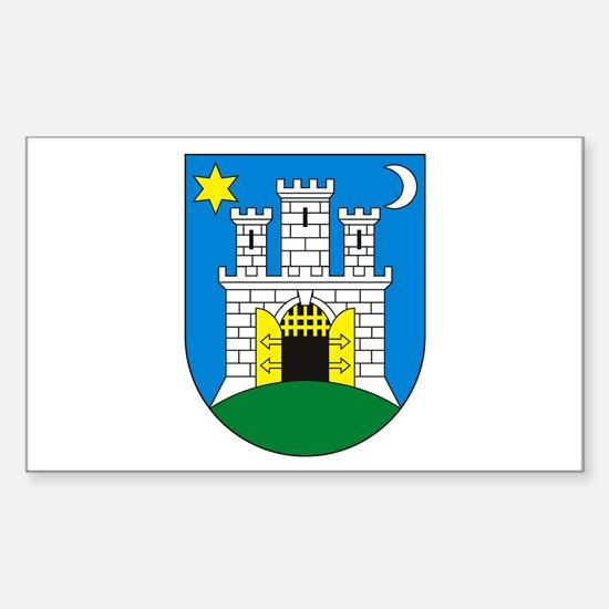 Zagreb Coat of Arms Rectangle Decal