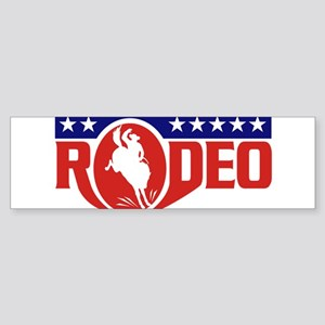 rodeo cowboy bronco Sticker (Bumper)