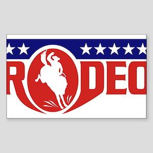 rodeo cowboy bronco Sticker (Rectangle)
