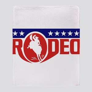 rodeo cowboy bronco Throw Blanket