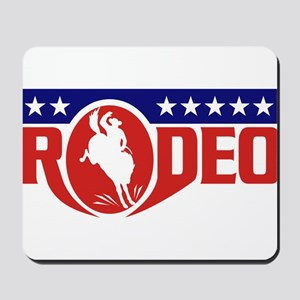 rodeo cowboy bronco Mousepad