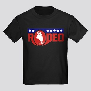 rodeo cowboy bronco Kids Dark T-Shirt