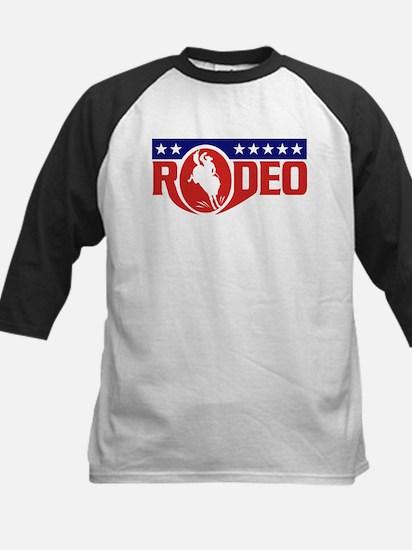 rodeo cowboy bronco Kids Baseball Jersey