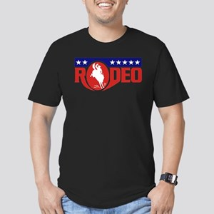 rodeo cowboy bronco Men's Fitted T-Shirt (dark)