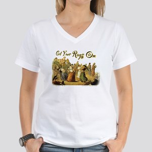 Get Your Raqs On Women's V-Neck T-Shirt