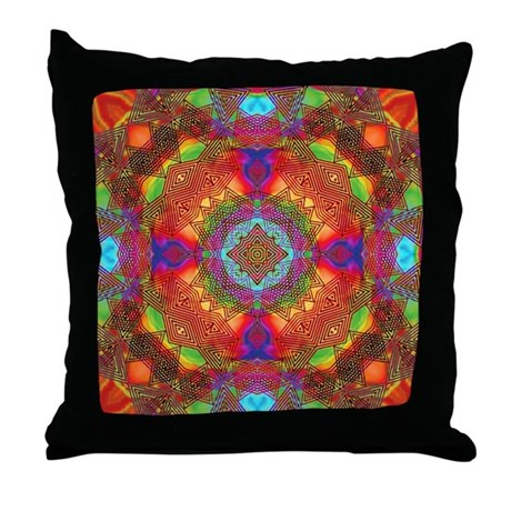 Star Pattern in Orange Throw Pillow