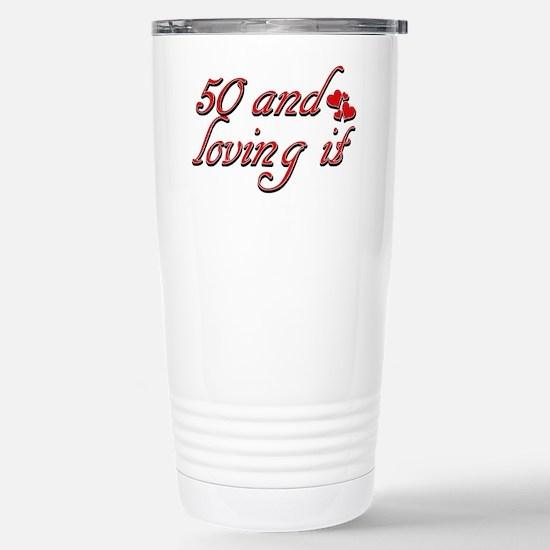 50 Birthday Desig Travel Mug
