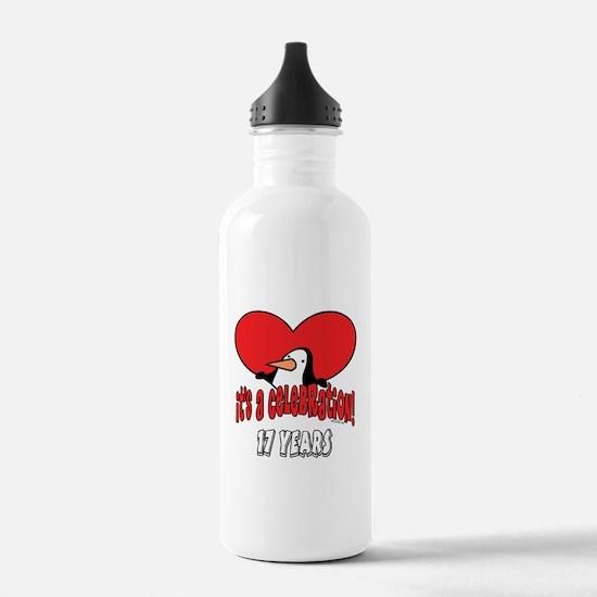 17th Celebration Water Bottle