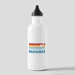 Retro Bahamas Palm Tree Stainless Water Bottle 1.0