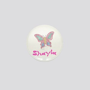 Pink Butterfly Shayla Mini Button
