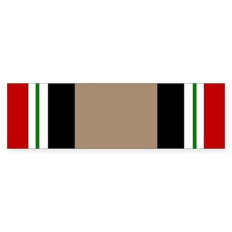 Iraq Veteran Ribbon Bumper Sticker