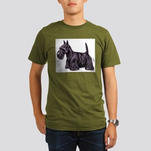 Scottish Terrier Organic Men's T-Shirt (dark)