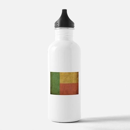 Vintage Benin Flag Water Bottle
