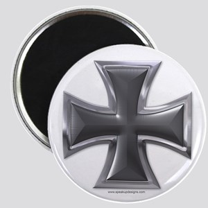 Black & Chrome Iron Cross Magnet