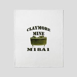 Claymore Mine Throw Blanket