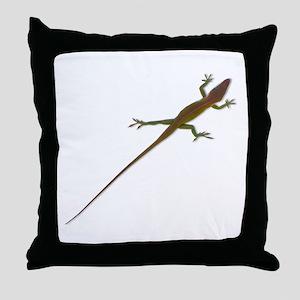 Crawling Lizard Throw Pillow
