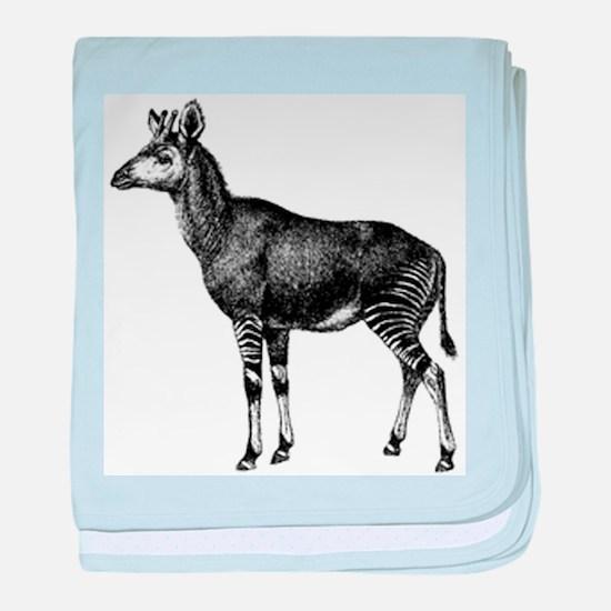 Okapi baby blanket