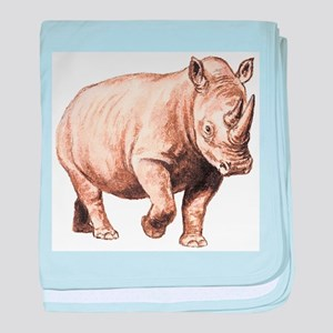 Rhinoceros baby blanket