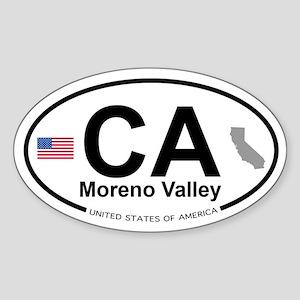 Moreno Valley Sticker (Oval)