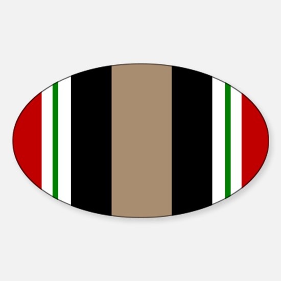 Iraq Veteran Ribbon Oval Decal