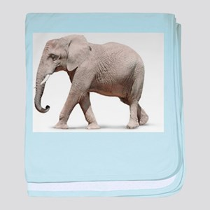 Elephant photo baby blanket