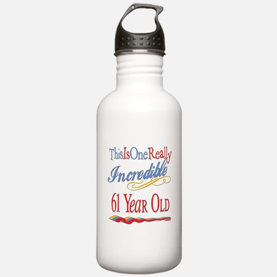 Incredible At 61 Water Bottle
