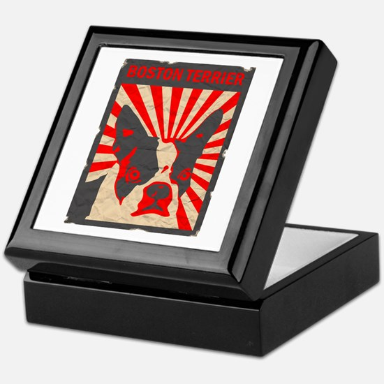 Boston Terrier Revolution Keepsake Box